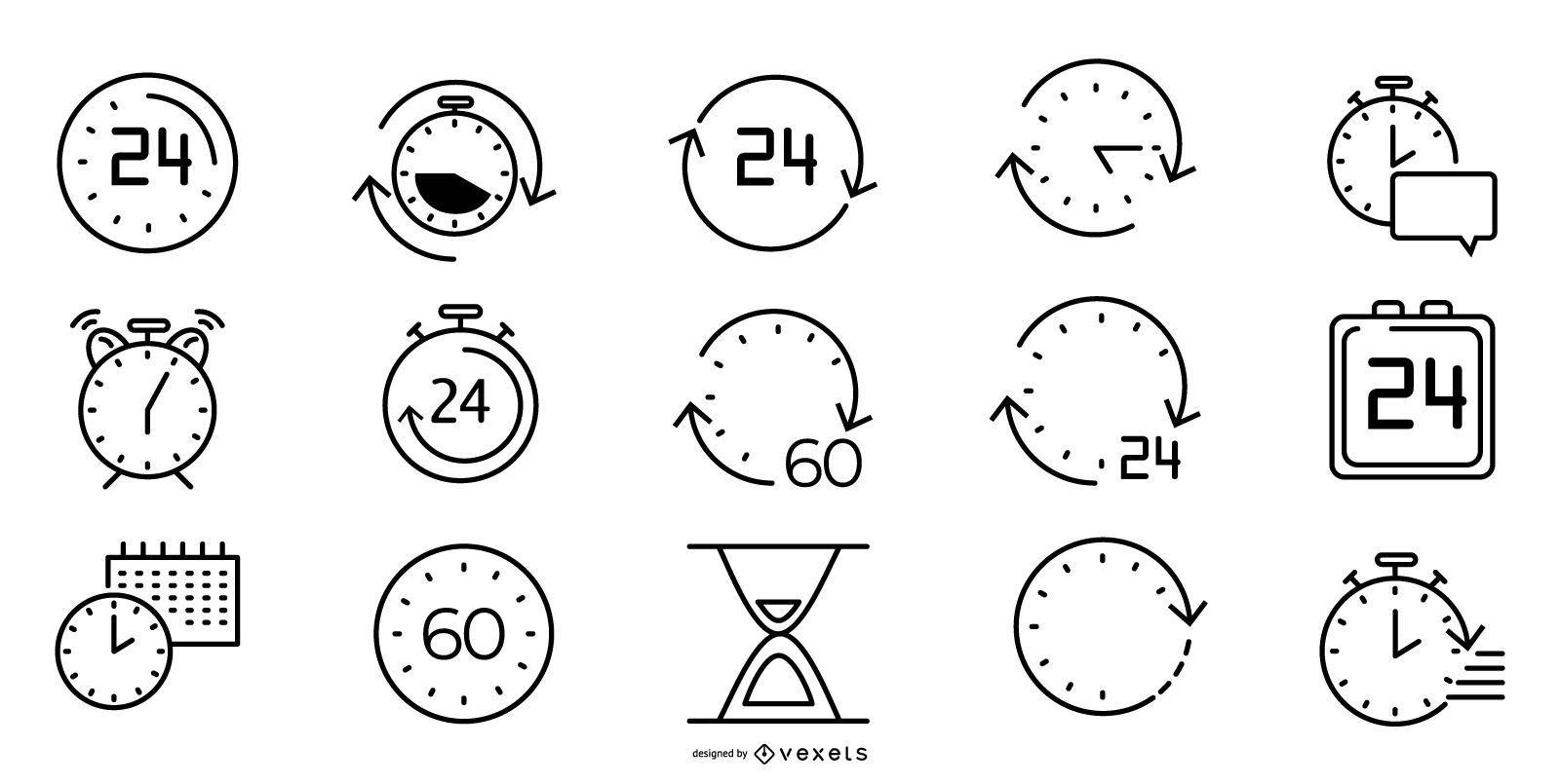 Paquete de iconos de línea de tiempo
