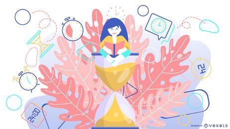 Zeit Sanduhr abstrakte Darstellung