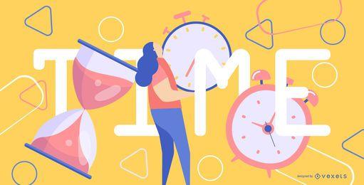 Ilustração de tempo abstrato