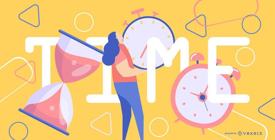 Ilustración de tiempo abstracto