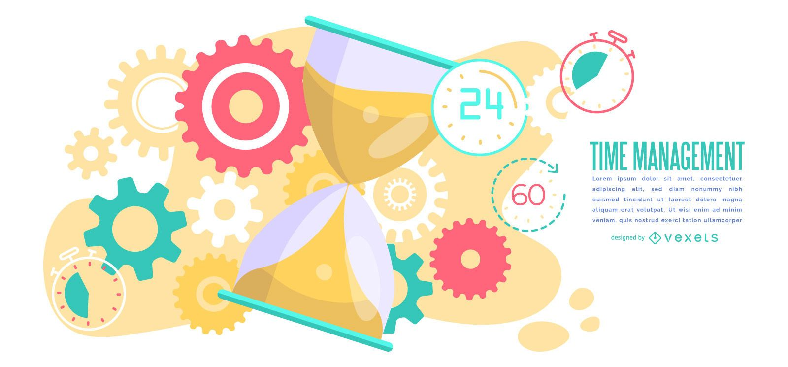 Time management abstract illustration