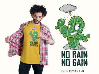 Nenhum design de camiseta de chuva