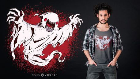 Design de camiseta fantasma assustador