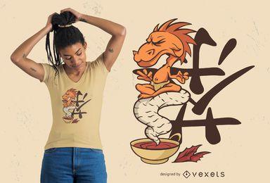 Design de t-shirt de chá de dragão