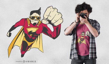 Genial diseño de camiseta de superhéroe