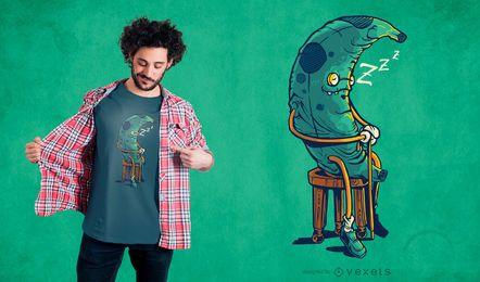 Diseño de camiseta de plátano antiguo