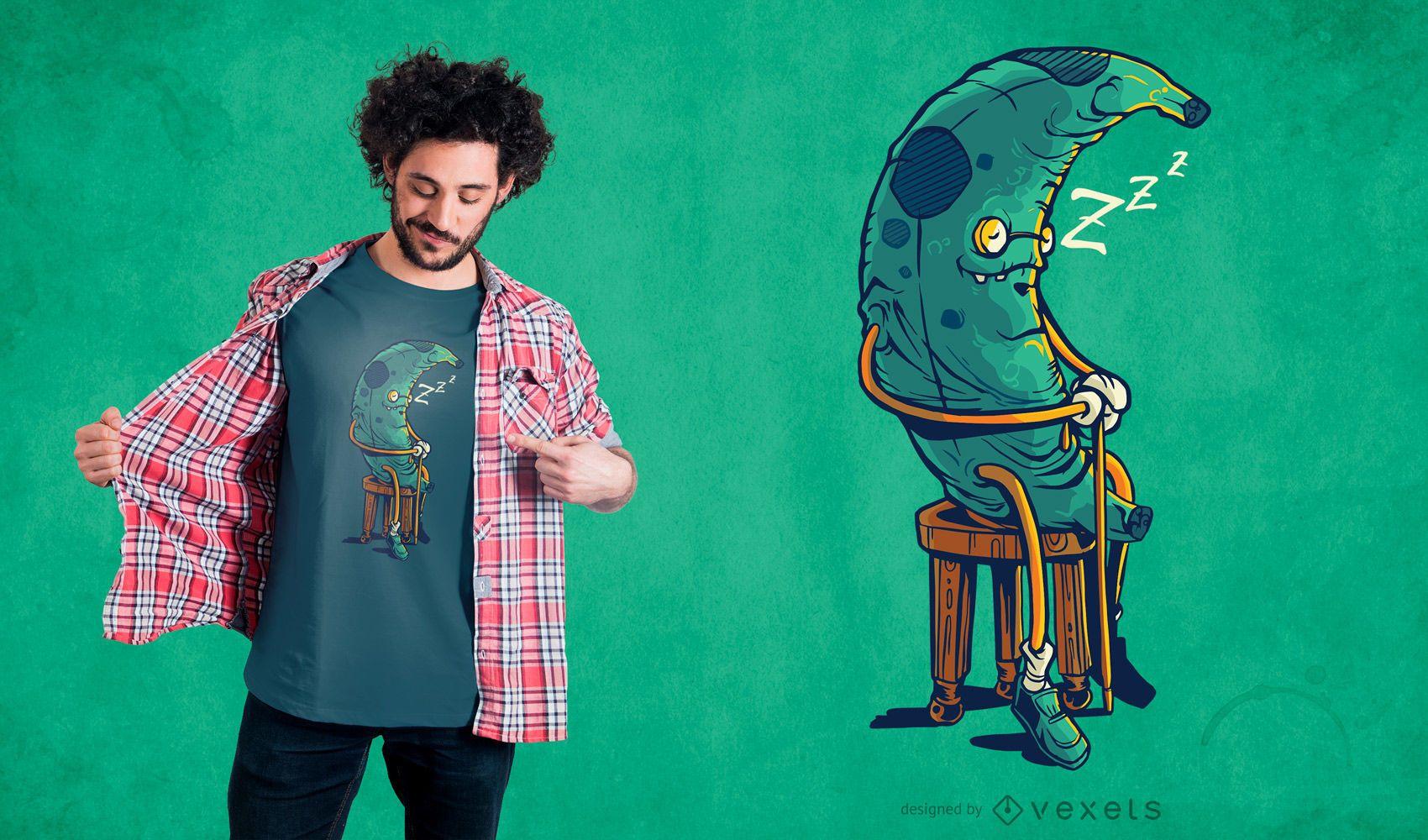 Diseño de camiseta de plátano viejo