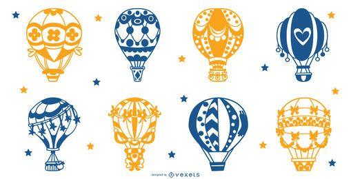Luftballons Silhouette gesetzt