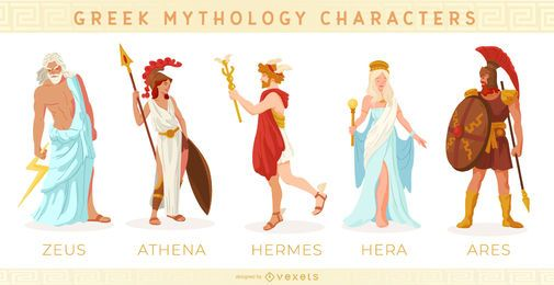 Greek mythology characters set