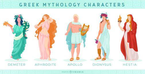 Zeichensatz der griechischen Götter