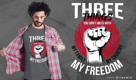 Design de t-shirt de citação de liberdade