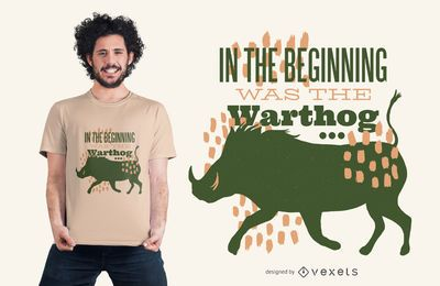 Warthog Quote T-shirt Design