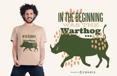 Warzenschwein-Zitat-T-Shirt Entwurf