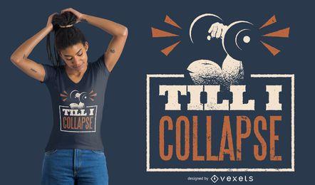 Diseño de camiseta con cita de levantamiento de pesas
