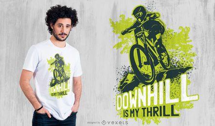 Design de t-shirt de bicicleta em declive