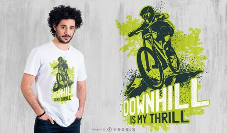 Downhill Biking T-Shirt Design
