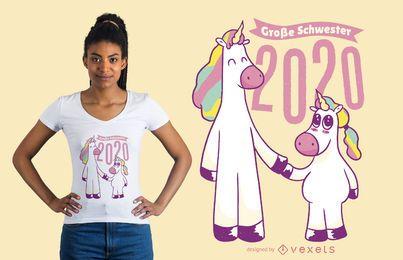 Irmãs unicórnio 2020 Design de t-shirt