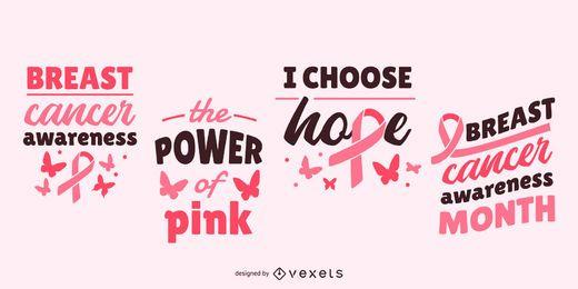 Letras de conscientização de câncer de mama