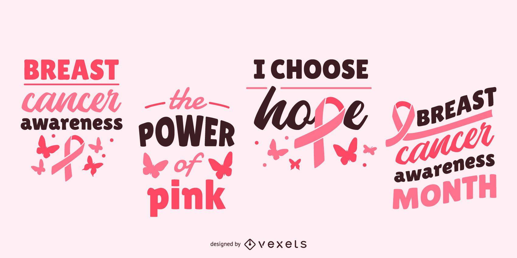 Leyendas de concienciación sobre el cáncer de mama