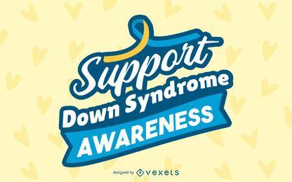 Diseño de letras de conciencia de síndrome de Down