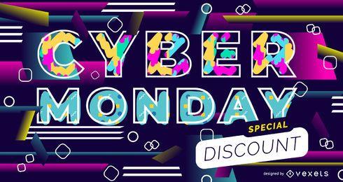 Cyber segunda-feira design deslizante