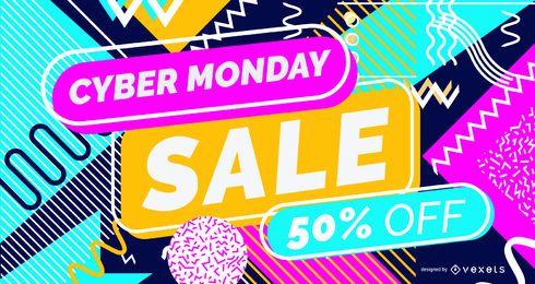 Design de controle deslizante de venda Cyber Monday