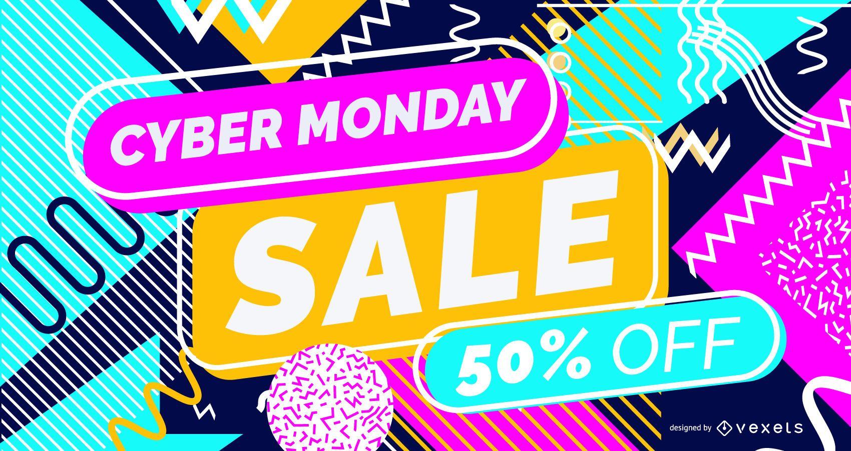 Cyber monday sale slider design
