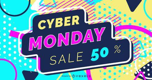 Design de controle deslizante da web da Cyber Monday