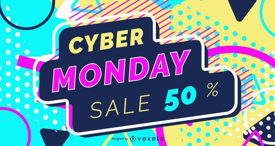Cyber segunda-feira web design deslizante