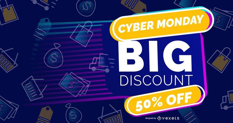 Big discount cyber monday slider