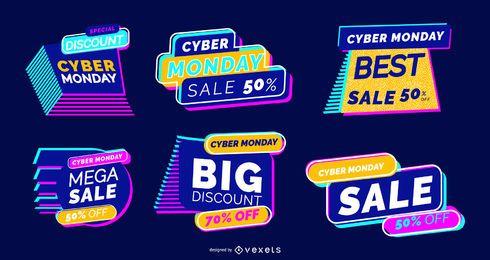 Cyber Montag Beschriftungssatz
