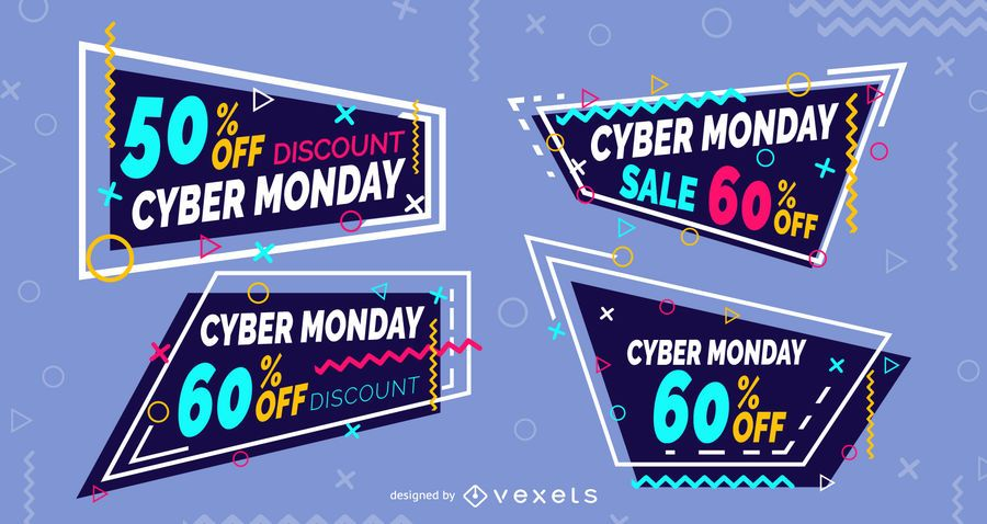 Cyber monday memphis labels set