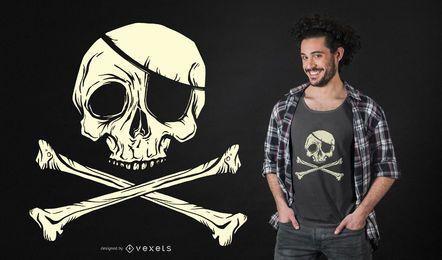 Piratenflagge-Piraten-T-Shirt Entwurf