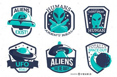 Alien badges pack