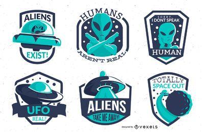 Pacote de distintivos alienígenas