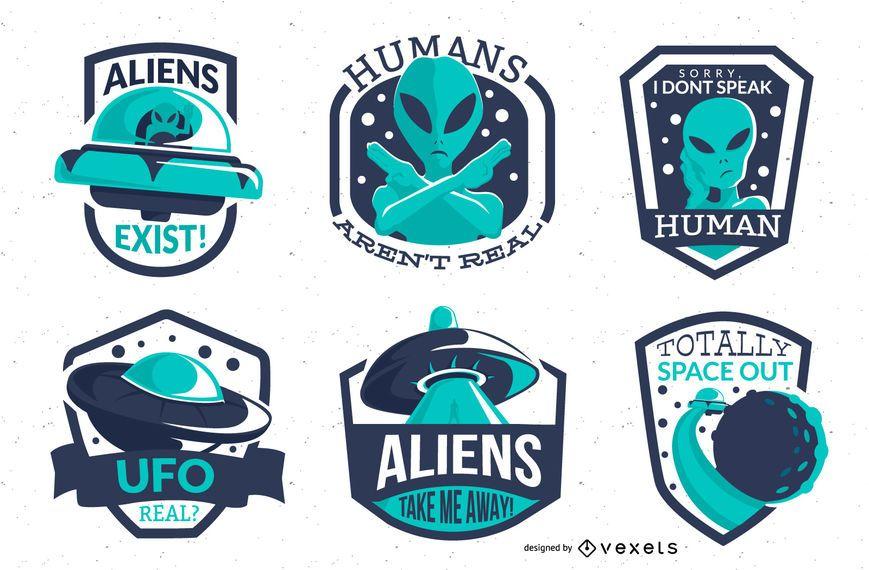 Alien badges pack