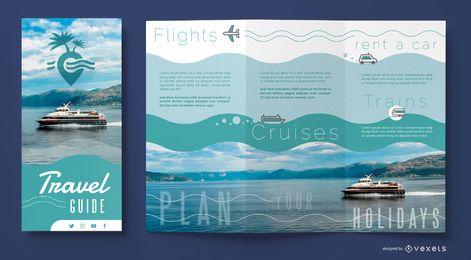 Plantilla de folleto de agencia de viajes