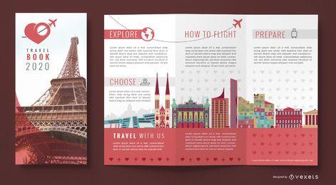 Modelo de agência de viagens brochura