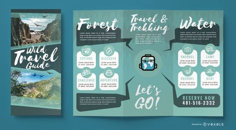 Wild travel agency brochure template