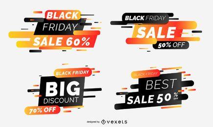 Colección de banners de venta de viernes negro