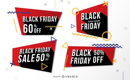 Pacote de banners de Memphis da Black Friday Sale
