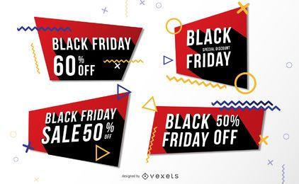 Paquete de banners de Memphis de venta de viernes negro