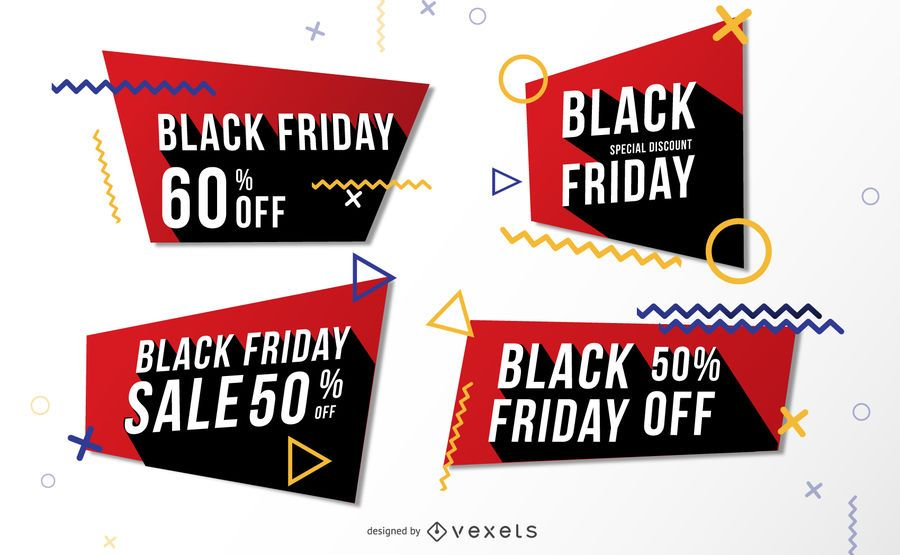 Black Friday Sale Memphis Banner Pack