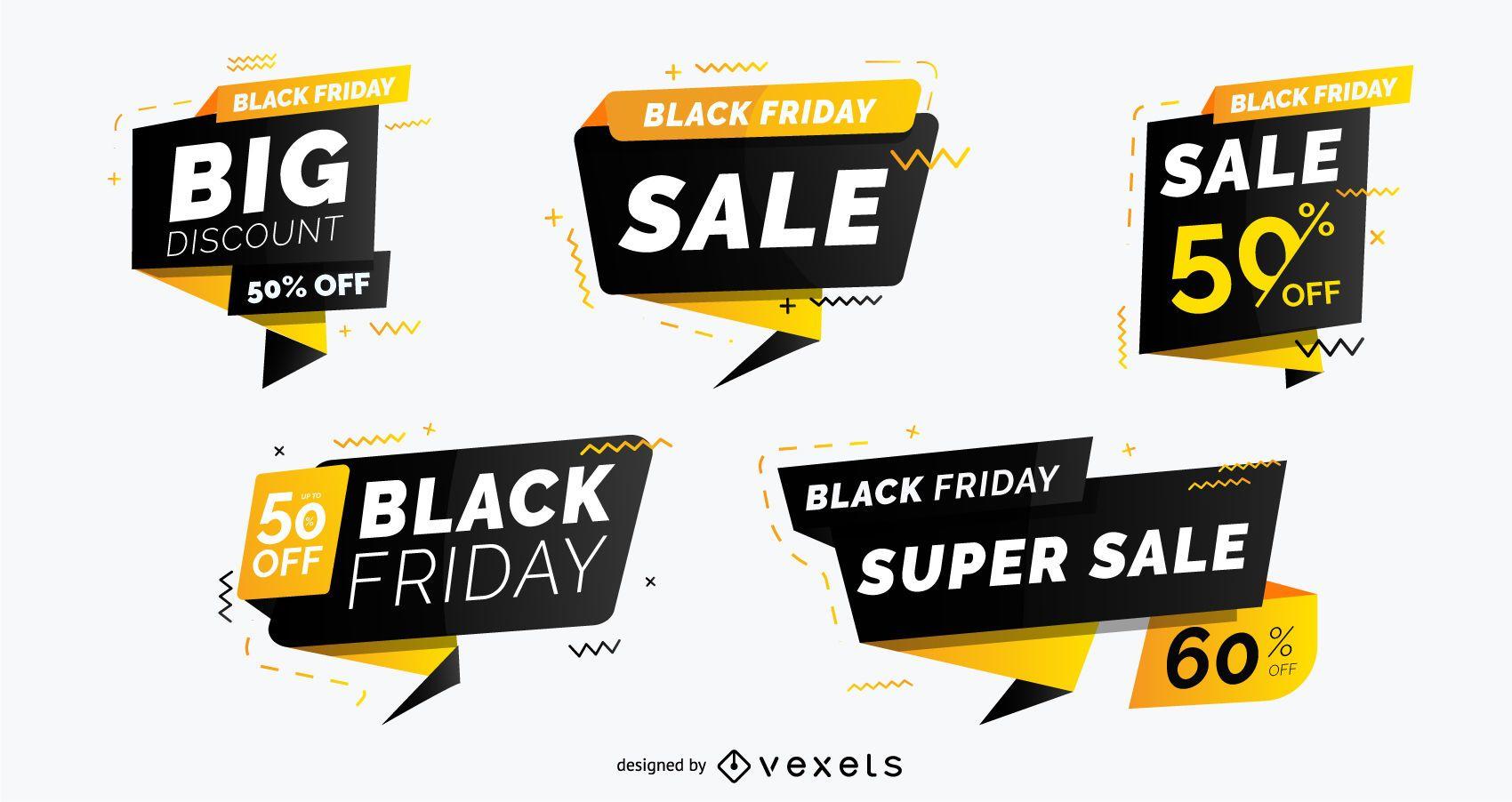 Black Friday Sale Badge Pack