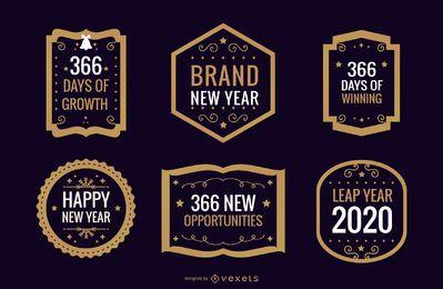 Coleção de emblemas do ano novo de 2020