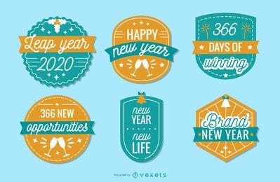 Pacote de distintivos de ano novo 2020