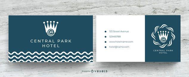 Plantilla de tarjeta de visita del hotel