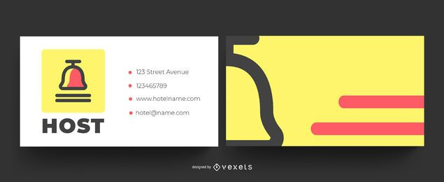 Colorful hotel business card