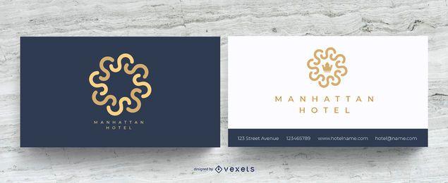 Elegante tarjeta de visita de hotel