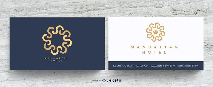 Cartão de visita elegante do hotel